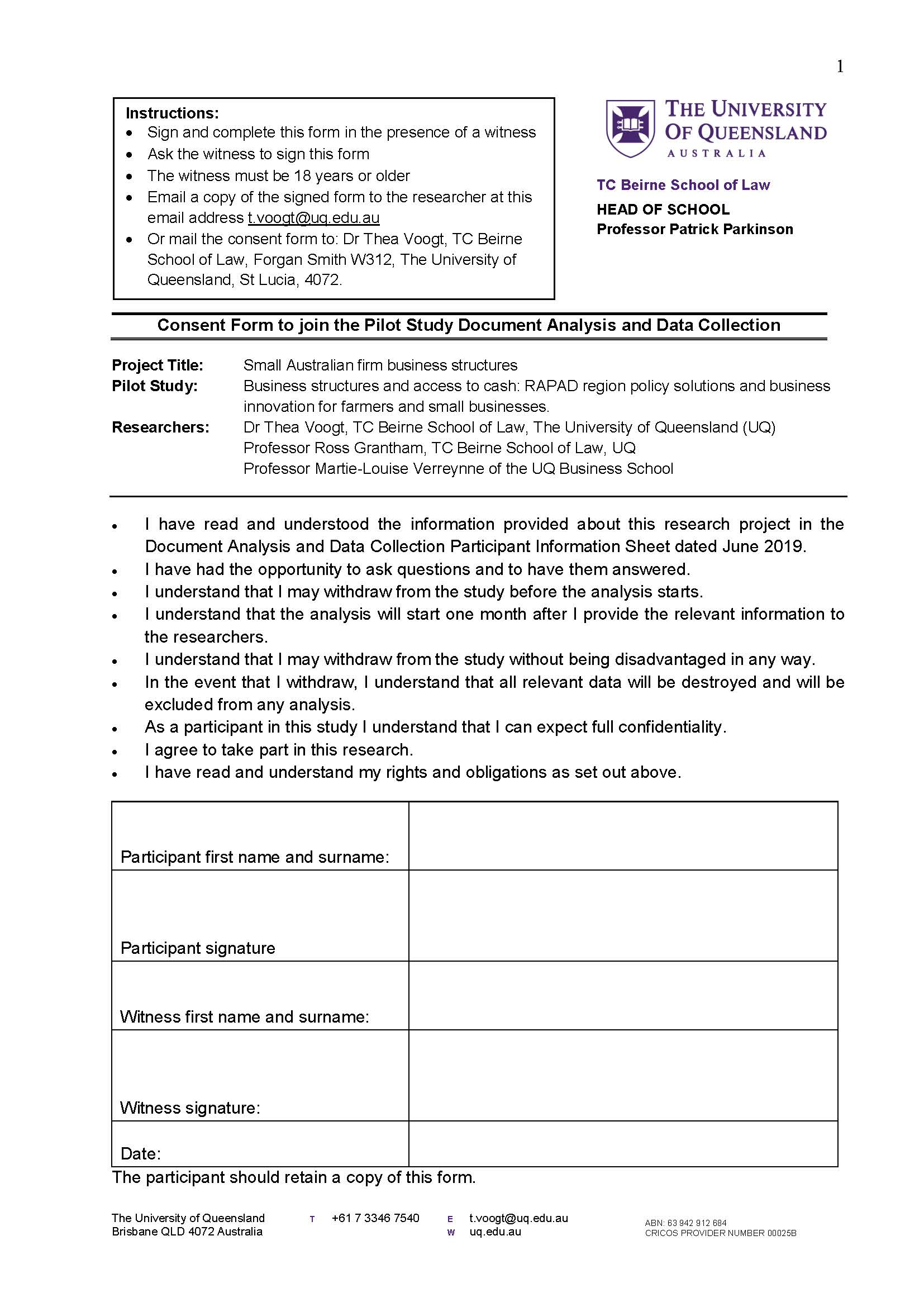 Thumbnail of Analysis and Data Collection Consent form