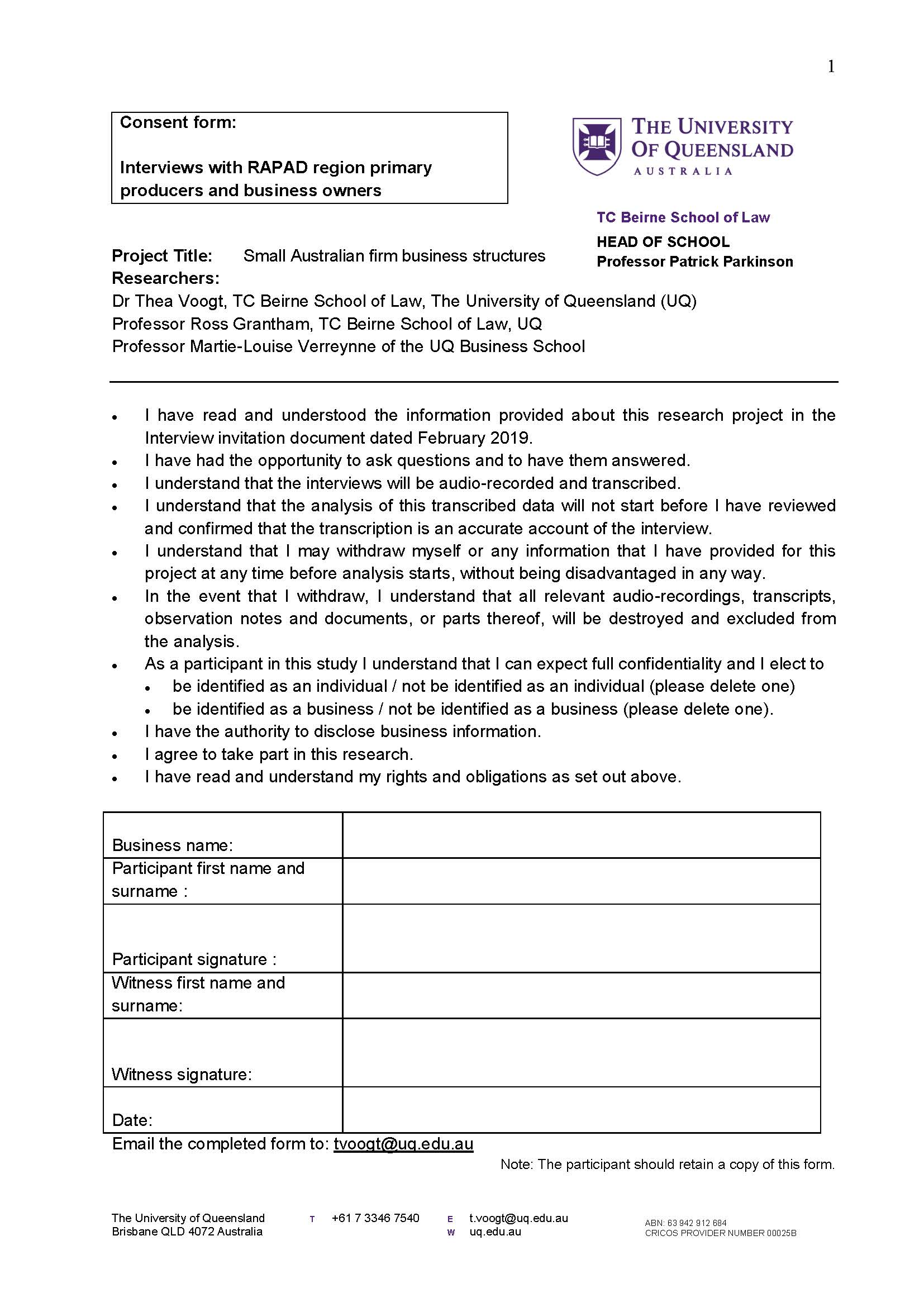 Thumbnail of Interview Consent Form
